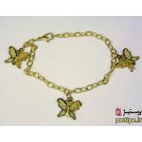 دستبند استیل زنانه پروانه سه بعدی