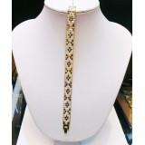 دستبند طرح سلطنتی 2 رنگ روکش آب طلا