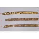 دستبند معرق کاری طرح 18 عیار روکش آب طلا